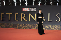 """British actress Gemma Chan poses on the red carpet f for the screening of the film """"Eternals"""" at the 16th edition of the Rome Film Fest in Rome, on October 24, 2021.<br /> UPDATE IMAGES PRESS"""
