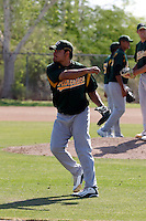 Henry Rodriguez -  Oakland Athletics - 2009 extended spring training.Photo by:  Bill Mitchell/Four Seam Images