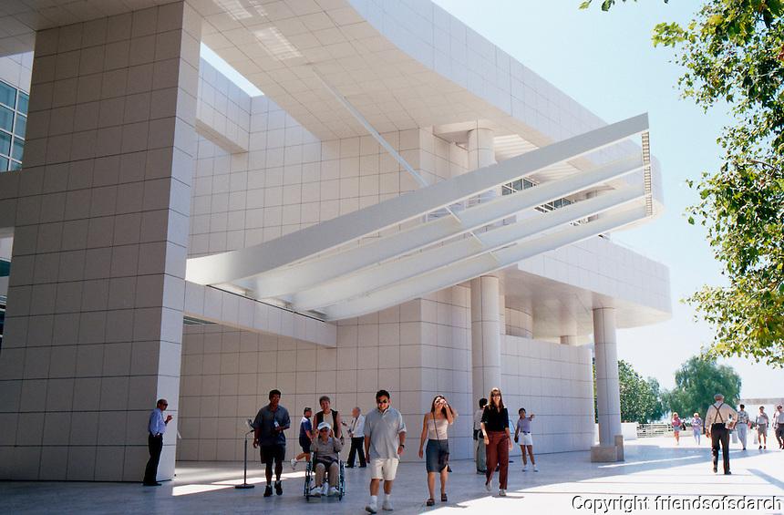 Richard Meier: The Getty Center--portal to Entrance Pavilion.  Photo '99.