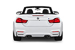 Straight rear view of a 2020 BMW M4 Base 2 Door Convertible stock images