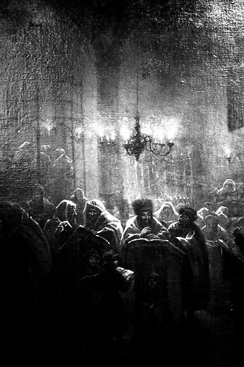 POLAND, 05.2002, Krakow..Painting in the Old Synagogue, the oldest religious building in Poland. It now houses the Jewish Museum. .POLOGNE, Cracovie, Mai 2002..Peinture dans l'Ancienne Synagogie, le plus ancien édifice religieux de Pologne, aujourd'hui Musée Juif..© Bruno Cogez