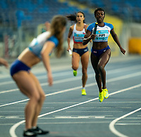 1st May 2021; Silesian Stadium, Chorzow, Poland; World Athletics Relays 2021. Day 1; Pipi of Great Britain on the home straight before passing the baton to Zoey Clark in the 4 x 400 heats
