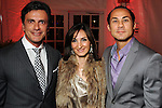 From left: Monsour Taghdisi, Haydeh Davoudi and Cenk Ozdogan at the fourth night of Fashion Houston at the Wortham Theater Wednesday Oct. 12,2011.(Dave Rossman/For the Chronicle)