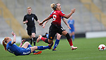 Lauren James of Manchester United Women and Kathryn Hill of Durham