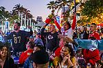 Fans watch Super Bowl LIV - San Francisco 49ers v Kansas City Chiefs in Miami