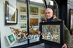 Artist Danny Lyne whose paintings are on view in the Bricin Restaurant windows