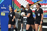 CALI - COLOMBIA, 10-07-2021: América de Cali y Deportivo Independiente Medellín en partido por la fecha 1 como parte de la Liga Femenina BetPlay DIMAYOR 2020 jugado en el estadio Pascual Guerrero de la ciudad de Cali. / America de Cali and Deportivo Independiente Medellin in match for the date 1 as part of Women's BetPlay DIMAYOR 2021 League, played at Pascual Guerrero stadium in Cali. Photo: VizzorImage / Nelson Rios / Cont