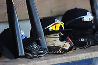 West Michigan Michigan Whitecaps hat and glove on April 26, 2017 at Fifth Third Ballpark in Comstock Park, Michigan. West Michigan defeated Fort Wayne 8-2. (Andrew Woolley/Four Seam Images)