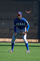 Texas Rangers Eric Jenkins (92) during an instructional league game against the San Diego Padres on October 9, 2015 at the Surprise Stadium Training Complex in Surprise, Arizona.  (Mike Janes/Four Seam Images)