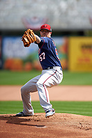 Minnesota Twins pitcher Ryan Pressly (57) during a Spring Training practice on March 1, 2016 at Hammond Stadium in Fort Myers, Florida.  (Mike Janes/Four Seam Images)