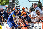 Julian Alaphilippe (FRA) Quick-Step Floors wins La Fleche Wallonne 2018 running 198.5km from Seraing to Huy, Belgium. 18/04/2018.<br /> Picture: ASO/Karen Edwards | Cyclefile <br /> <br /> All photos usage must carry mandatory copyright credit (© Cyclefile | ASO/Karen Edwards)