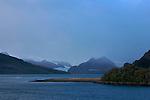 Le fjord Almirantazgo près de la cordillère de Darwin..Almirantazgo fjord. Ainsworth Bay nearby Darwin cordillera