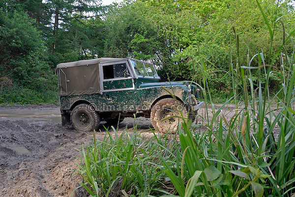 Land Rover Series 1 86inch at the ALRC National 2008. The Association of Land Rover Clubs (ALRC) National Rallye is the biggest annual motor sport oriented Land Rover event and was hosted 2008 by the Midland Rover Owners Club at Eastnor Castle in Herefordshire, UK, 22 - 27 May 2008. --- No releases available. Automotive trademarks are the property of the trademark holder, authorization may be needed for some uses.