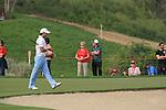 Gareth Maybin on the 13th green on day 3 of the Abu Dhabi HSBC Golf Championship 2011, at the Abu Dhabi golf club, UAE. 22/1/11..Picture Fran Caffrey/www.golffile.ie.