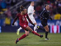 Columbus, OH - March 1, 2018: The USWNT defeated Germany 1-0 during the first match of the SheBelieves Cup at Mapfre Stadium.