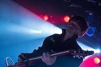 Die Indie-Rock Band Abwaerts spielte am Samstag den 22. November 2014 im Berliner Club SO36.<br /> Besetzung: Martin 'Dog' Kessler, Drums; Frank Z., Guitarre & Gesang; Rodrigo Gonzalez, Guitarre; Bjoern Werra, Bass.<br /> 22.11.2014, Berlin<br /> Copyright: Christian-Ditsch.de<br /> [Inhaltsveraendernde Manipulation des Fotos nur nach ausdruecklicher Genehmigung des Fotografen. Vereinbarungen ueber Abtretung von Persoenlichkeitsrechten/Model Release der abgebildeten Person/Personen liegen nicht vor. NO MODEL RELEASE! Nur fuer Redaktionelle Zwecke. Don't publish without copyright Christian-Ditsch.de, Veroeffentlichung nur mit Fotografennennung, sowie gegen Honorar, MwSt. und Beleg. Konto: I N G - D i B a, IBAN DE58500105175400192269, BIC INGDDEFFXXX, Kontakt: post@christian-ditsch.de<br /> Bei der Bearbeitung der Dateiinformationen darf die Urheberkennzeichnung in den EXIF- und  IPTC-Daten nicht entfernt werden, diese sind in digitalen Medien nach §95c UrhG rechtlich geschuetzt. Der Urhebervermerk wird gemaess §13 UrhG verlangt.]