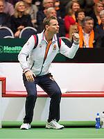 06-04-12, Netherlands, Amsterdam, Tennis, Daviscup, Netherlands-Rumania, Captain Jan Siemerink