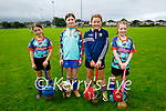 Attending the Tralee Parnells GAA Cúl Camps on Monday, l to r:  Norena O'Driscoll, Eve Ní Loingsigh Murray, Chloe O'Halloran and Eimear Kenny.
