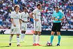 Real Madrid's player Luka Modric, Danilo Luiz Da Silva and Gareth Bale during a match of La Liga Santander at Santiago Bernabeu Stadium in Madrid. September 10, Spain. 2016. (ALTERPHOTOS/BorjaB.Hojas)