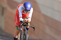 9th September 2021; Trento, Trentino–Alto Adige, Italy: 2021 UEC Road European Cycling Championships, Womens Individual time trials:  AMIALIUSIK Alena (BLR)