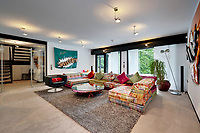 BNPS.co.uk (01202) 558833. <br /> Pic: Savills/BNPS<br /> <br /> Pictured: Lounge. <br /> <br /> The UK home of Hollywood actor Antonio Banderas is on the market for £2.95m.<br /> <br /> The Mask of Zorro star moved from LA to Cobham in Surrey in 2015 with girlfriend Nicole Kimpel after splitting from his wife of 20 years Melanie Griffiths.<br /> <br /> They are now selling their home to spend more time in Banderas' native Malaga, where he has bought and built a theatre.