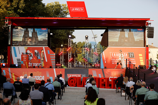 Team Presentation for La Vuelta 2021 held in Burgos city centre, Spain. 12th August 2021.    <br /> Picture: Luis Angel Gomez/Photogomezsport   Cyclefile<br /> <br /> All photos usage must carry mandatory copyright credit (© Cyclefile   Luis Angel Gomez/Photogomezsport)