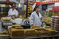 Yangzhou, Jiangsu, China.  Cookies, Snacks and Candy Vendor, Dong Guan Street.