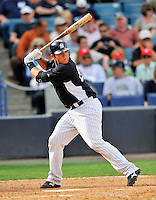 5 March 2011: New York Yankees' catcher Austin Romine in action during a Spring Training game against the Washington Nationals at George M. Steinbrenner Field in Tampa, Florida. The Nationals defeated the Yankees 10-8 in Grapefruit League action. Mandatory Credit: Ed Wolfstein Photo