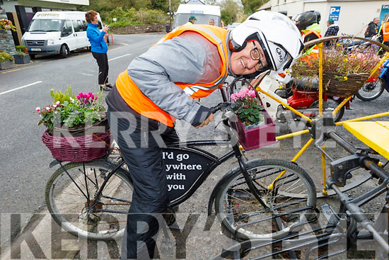 James O'Brien thinking about a different mode of transport for the Honda 50 Run for the Kerry Hospice in Boolteens on Sunday
