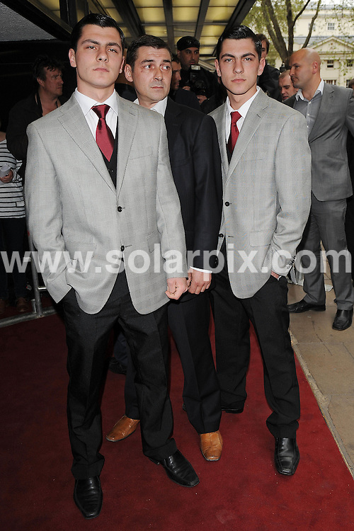 **ALL ROUND PICTURES FROM SOLARPIX.COM**.**WORLDWIDE SYNDICATION RIGHTS**.Red carpet arrivals at the UK premiere of Killer Bitch.  Held at the Curzon, Mayfair, London Uk..This pic: Tony Sayers, guest and Jack Sayers ..JOB REF:  11178     SSD     DATE: 29.04.2010.**MUST CREDIT SOLARPIX.COM OR DOUBLE FEE WILL BE CHARGED**.**MUST NOTIFY SOLARPIX OF ONLINE USAGE**.**CALL US ON: +34 952 811 768 or LOW RATE FROM UK 0844 617 7637**