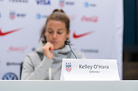 London, ENG - June 6, 2019:  The USWNT held a press conference in preparation for the FIFA Women's World Cup at Hotspur Way Training Ground.