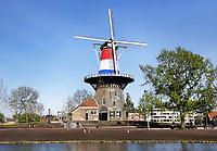 Nederland Leiden - 2018. Molen de Valk. De Valk is een stellingmolen en tegewoordig een museum. Foto Berlinda van Dam / Hollandse Hoogte