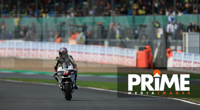 Karel Abraham (17) of the Angel Nieto Team (Ducati) race team during the GoPro British MotoGP at Silverstone Circuit, Towcester, England on 26 August 2018. Photo by Chris Brown / PRiME Media Images