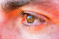 Close up of an eye reflection, Atacama desert, Chile