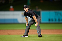 Umpire Mark Stewart during a game between the Tampa Tarpons and the Lakeland Flying Tigers on April 5, 2018 at Publix Field at Joker Marchant Stadium in Lakeland, Florida.  Tampa defeated Lakeland 4-2.  (Mike Janes/Four Seam Images)