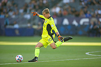 CARSON, CA - JUNE 19: Stefan Cleveland #30 of the Seattle Sounders FC takes a goal kick during a game between Seattle Sounders FC and Los Angeles Galaxy at Dignity Health Sports Park on June 19, 2021 in Carson, California.