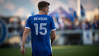 SAN JOSE, CA - JULY 24: Tanner Beason #15 of the San Jose Earthquakes during a game between San Jose Earthquakes and Houston Dynamo at PayPal Park on July 24, 2021 in San Jose, California.