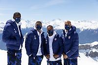 CRANS-MONTANA, SWITZERLAND - MAY 28: Tim Weah,  DeAndre Yedlin, Julian Green, John Brooks of the United States at Pointe de la Plaine Morte on May 28, 2021 in Crans-Montana, Switzerland.