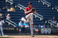 Rochester Red Wings relief pitcher Josh Rogers (54) in action against the Scranton/Wilkes-Barre RailRiders at PNC Field on July 25, 2021 in Moosic, Pennsylvania. (Brian Westerholt/Four Seam Images)