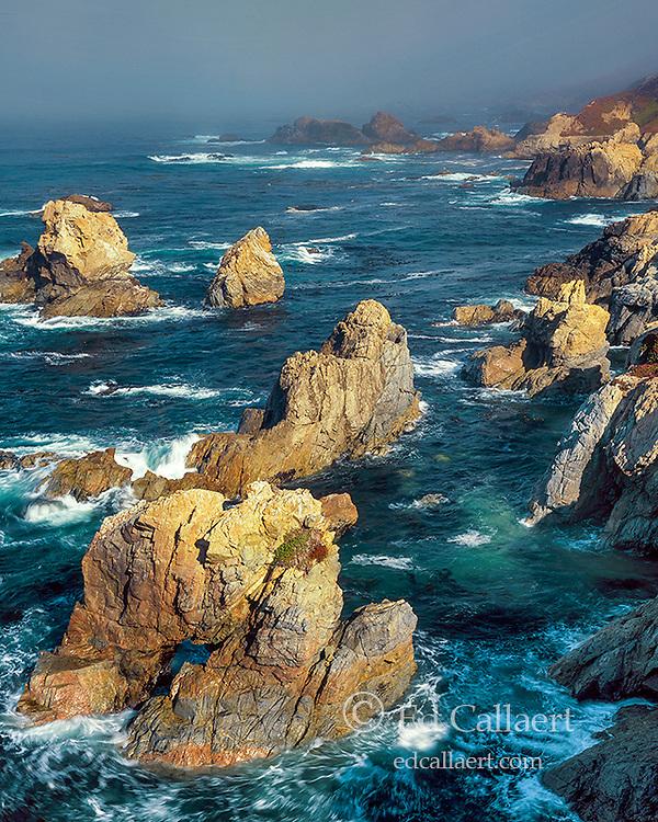 Surf, Arch Rock, Garrapata State Beach, Monterey County, Big Sur CA