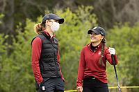 STANFORD, CA - APRIL 25: Anne Walker, Aline Krauter at Stanford Golf Course on April 25, 2021 in Stanford, California.