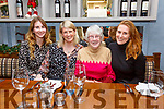 Enjoying a night out for Nollaig na mBan in QC's Bar & Restaurant in Cahersiveen on Monday night were l-r; Emma O'Connell, Paula Quinlan, Sheila Keating & Katie O'Connell.
