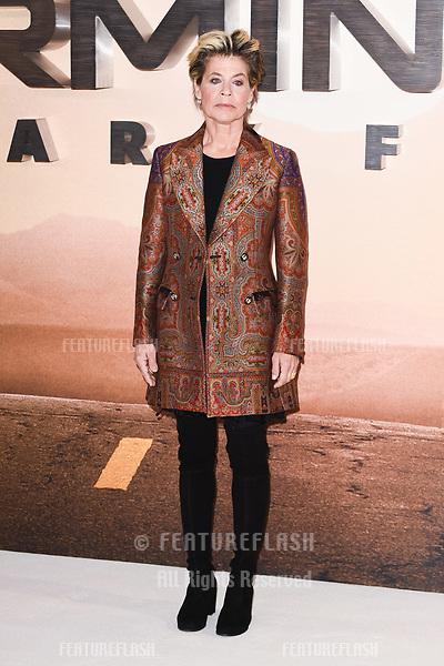 "LONDON, UK. October 17, 2019: Linda Hamilton at the ""Terminator: Dark Fate"" photocall, London.<br /> Picture: Steve Vas/Featureflash"