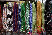 India, Rishikesh.  Necklaces of Beads.