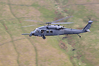 Pawe Hawk helicopter at Bwlch, Wales