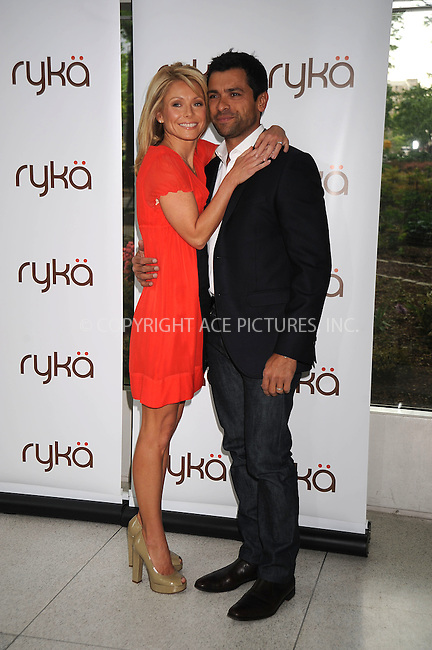 WWW.ACEPIXS.COM . . . . . ....May 15 2008, New york City....Actress and TV personality Kelly Rippa (L) and her husband Mark Consuelos (R) were at the Museum of Natural History on the Upper West Side of Manhattan where Ripa was the spokesperson for RYKA sportswear.....Please byline: KRISTIN CALLAHAN - ACEPIXS.COM.. . . . . . ..Ace Pictures, Inc:  ..(646) 769 0430..e-mail: info@acepixs.com..web: http://www.acepixs.com