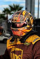 Oct. 31, 2008; Las Vegas, NV, USA: NHRA top fuel dragster driver Bob Vandergriff during qualifying for the Las Vegas Nationals at The Strip in Las Vegas. Mandatory Credit: Mark J. Rebilas-