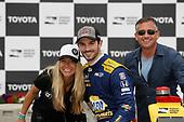 Alexander Rossi, Andretti Autosport Honda with friend Liza Markle and father Mr. Rossi