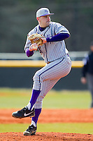 High Point Panthers Starting pitcher Jared Avidon (31) in action against the Presbyterian Blue Hose at the Presbyterian College Baseball Complex on March 3, 2013 in Clinton, South Carolina.  The Blue Hose defeated the Panthers 4-1.  (Brian Westerholt/Four Seam Images)