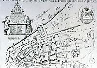 Utopia:  Plan of New York City from an actual survey, 1731.  James Lyne.